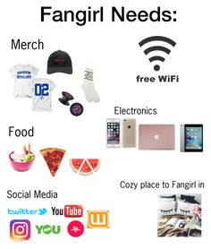 """Fangirl Needs "" by ariana-butera-grande-21 on Polyvore featuring art"