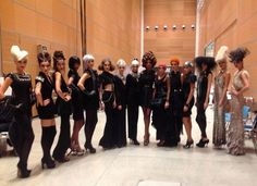 Back stage at hairshow with Des Murray and team in Italy.