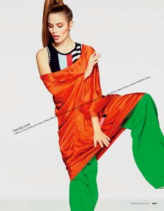 in full color: abi fox and angelina nawojczyk by alexei hay for elle italia march 2013 | visual optimism; fashion editorials, shows, campaigns & more!