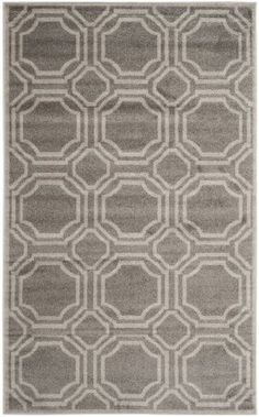 Safavieh Amherst Collection AMT411C Indoor/Outdoor Area Rug, 9-Feet by 12-Feet, Grey and Light Grey $489