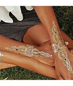 So Pretty Glitter Wrist And Hand Tattoos