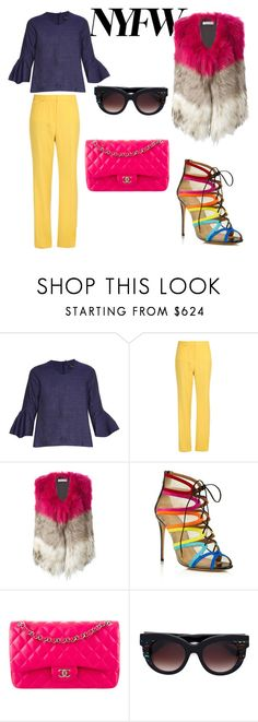"""""""NY state of mind"""" by vkrene on Polyvore featuring E L L E R Y, STELLA McCARTNEY, Yves Salomon, Salvatore Ferragamo, Chanel, Thierry Lasry, women's clothing, women, female and woman"""