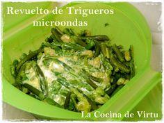 La cocina de Virtu: Revuelto trigueros al microondas    Estuches y moldes Lekue a la venta aquí: http://www.cornergp.com/tienda?bus=lekue