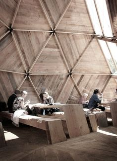 Peoples Meeting Dome / Kristoffer Tejlgaard & Benny Jepsen #wood #frames #sun