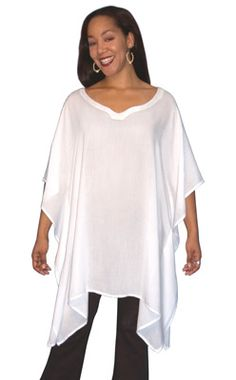 This set of ponchos and caftans are all made from our new 100�0Rayon Light fabric, a lightweight loosely woven version of our viscose rayon.