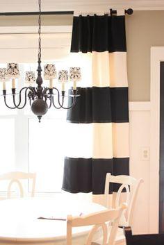 gardinen dekorationsvorschläge schwarz-weiß