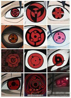Sharingan and mangekyou sharingan Naruto Uzumaki Clan, Naruto Shippuden, Boruto, Naruto Kakashi, Naruto Art, Sharingan Eyes, Naruto Sharingan, Mangekyou Sharingan, Madara Uchiha