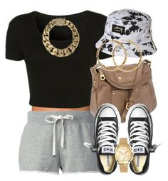 """I wanna lock in your love.."" by livelifefreelyy ❤ liked on Polyvore featuring NLY Accessories, Topshop, Stussy, Moncler, Marc by Marc Jacobs, Converse, AllSaints, Michael Kors and H&M"