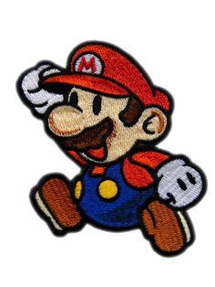 Super Mario Paper Iron On Patch. $8.20, via Etsy.