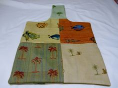 Upcycled Upholstery Sample Tote Bag Palm Trees by luvvinjewels, $13.00