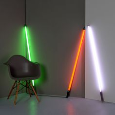 Linea Neon Tube Lights - Fluobar  The Linea fluorescent neon tube lights are from hip designer Seletti. Fluobar lamps are magnificent