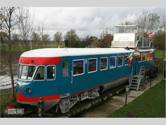 Controversy Tram Hotel. Stay in a Bed and Breakfast on a restored train. Hoogwoud, Netherlands.