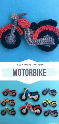 Motorbike Free Crochet Pattern Are your children fans of different motor vehicles? These motorbikes in the colors of the rainbow will make them so thrilled then! Maybe you will crochet a blanket or a decorative pillow with this cool motif? Easy Hobbies, Hobbies To Try, Hobbies For Women, Hobbies That Make Money, Crochet Crafts, Crochet Toys, Crochet Projects, Free Crochet, Crochet Jumper
