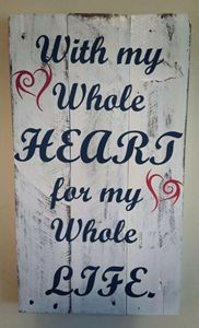 It is well with my soul pallet sign made from reclaimed pallet. Wood Pallet Signs, Wood Pallets, Whole Heart, Wedding Signs, Wedding Ideas, Live Laugh Love, Wall Art, Gifts, Gift Ideas