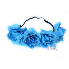 Blue Flower Crown Flower Crown Flower Headband Coachella Wedding... (105 MXN) ❤ liked on Polyvore featuring accessories, hair accessories, blue, hair stuff, headbands & turbans, artificial floral garland, blue flower headband, flower garland, faux flower garland and flower crown headband