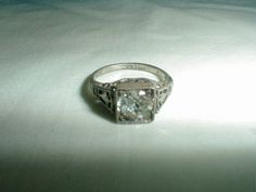 edwardian engagement ring wedding ring by qualityvintagejewels, $125.00