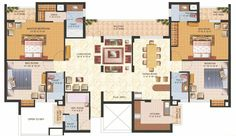 ...  quick floor plan of the house! Description from freeyourselfroleplaying.com. I searched for this on bing.com/images Small Apartment Plans, Apartment Floor Plans, Apartment Layout, 3 Bedroom Floor Plan, 4 Bedroom House Plans, 3d House Plans, Duplex House Plans, India House, 4 Bedroom Apartments