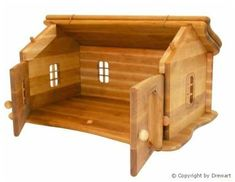 Small Wooden Dollhouse Wooden Bag, Wooden Toys, Wooden Dollhouse, Waldorf Toys, Montessori Toys, Cute Dolls, Cloth Diapers, Hope Chest, Hardwood