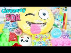 GIVEAWAY (Aperto) 50K ! Ti Regalo - Squishy, Resina,    Popin' Cookin', Emoji ..ecc ! - YouTube