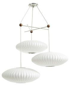 George Nelson Bubble Lamp- light fixture in stairwell Modern Hanging Lights, Modern Lighting, Beach Lighting, Entryway Lighting, Vintage Lighting, Pendant Light Fixtures, Pendant Lighting, Pendant Lamps, Pendants