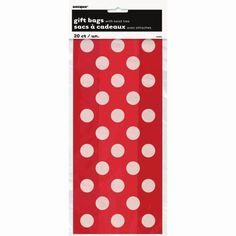 <div>Hand out delicious party treats at your next event with our Red Polka Dots Cello Bags. Fill...