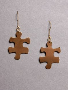 The symbol for Autism United are the puzzle pieces. They describe autism as having all of the pieces but not necessarily having them in the right place. These earrings would make a great conversation starter to spread awareness!