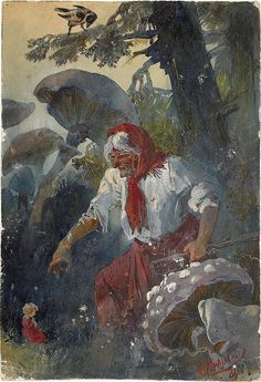 Baba Yaga by Nikolai Nikolaievich Karazin (1842-1908)