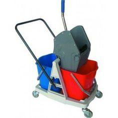 Cubo doble con prensa, 4 ruedas, capacidad cubo: 2 x 17 Litros. http://www.ilvo.es/3647-cubo-doble-con-prensa-2-x-18-litros.html