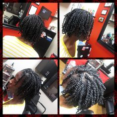 Natural hair twist www.styleseat.com/shamonadixon