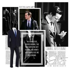 James Moriarty by violetta-valery on Polyvore featuring polyvore, fashion, style and BOSS Black
