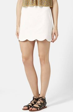 Topshop Scallop Hem Miniskirt available at #Nordstrom