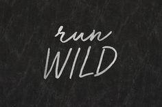 Run Wild Font by BLKBK on @creativemarket
