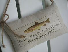 Housewarming Gift Family Name Fish Lake House by AbundantHaven, $16.95