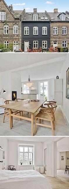 Beautiful mid century pieces mixed in a clean, contemporary setting. Hemnetgodis i Köpenhamn