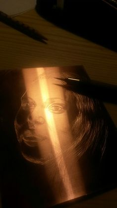 Copper etching - autoportret