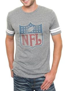 New Junk Food NFL Collection!  NFL throwback tee  $42  www.junkfoodclothing.com