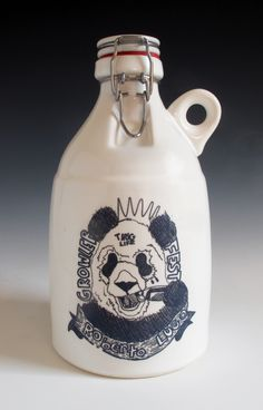Limited Edition Roberto Lugo Loop Growler Only 15 of these were made as part of GrowlerFest 2015.