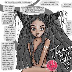 #Zodiac sign illustration: #Taurus - Tall N Curly™ #astrology
