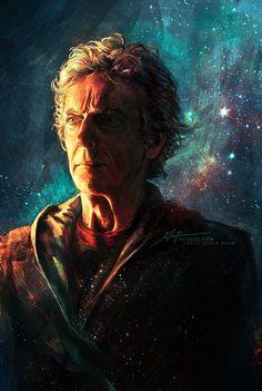 Amazing art of Peter Capaldi playing the doctor 13th Doctor, Twelfth Doctor, Serie Doctor, Doctor Who Fan Art, Fanart, Peter Capaldi, Torchwood, Dr Who, Superwholock