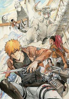 Bleach x Shingeki no Kyojin / Attack on Titan