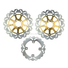 Cheap Full Set Front And Rear Brake Disc Rotor For KAWASAKI ZX6RR NINJA 2003 2004 Gold Online with $178.02/Piece   DHgate