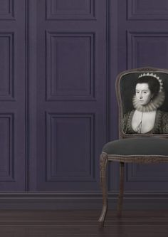 Amethyst Panelling Wallpaper - Young & Battaglia - Lime Lace