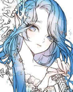 The digital file of Sea Fairy Cookie💦 from Cookie Run the one i drew on Samsung tablet if you remember. Pretty Anime Girl, Beautiful Anime Girl, Anime Art Girl, Anime Girls, Anime Mermaid, Mermaid Art, Manga Drawing, Manga Art, Desu Desu
