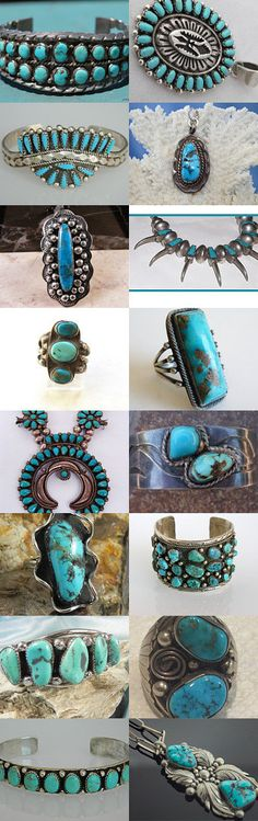 Vintage Turquoise by Beth on Etsy--Pinned with TreasuryPin.com