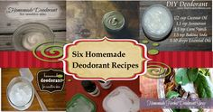 6 Homemade Deodorant Recipes from The Homestead Garden Deodorant Recipes, Homemade Deodorant, Homemade Skin Care, Homemade Soaps, Homemade Cleaning Products, Homemade Beauty Products, Natural Products, Be Natural, Natural Health