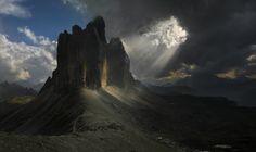 Tre Cime di Lavaredo  Sexten Dolomites mountain range  Italy