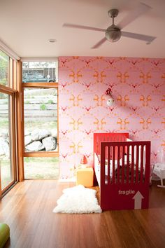 Phinney Modern: Wallpaper and Bamboo