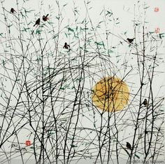 Abstract Watercolor, Watercolor Paintings, Abstract Art, Chinese Painting, Chinese Art, Zen Art, Gravure, Landscape Art, Asian Art