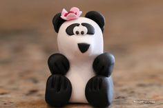 Blossom the Panda Animal Roundup polymer clay animal miniature bear figurine small sculpture polymer clay panda panda figurine (27.50 USD) by Cloud9Productions