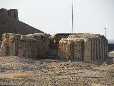 Ur, Mesopotamia (Irak), restos de edificio cercano al Zigurat